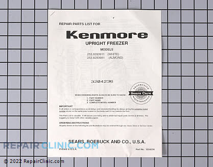 Kenmore Freezer Parts Catalog