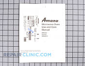 Rw635t use &amp; care manual - Part # 113876 Mfg Part # B8383296
