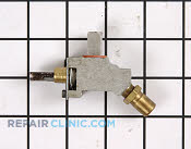 Valve, top burner - Part # 343411 Mfg Part # 0309127
