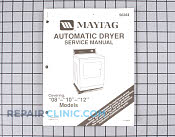 Repair Manual - Part # 1243163 Mfg Part # Y056284