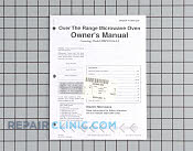 Owners manual - Part # 1024823 Mfg Part # 53001208