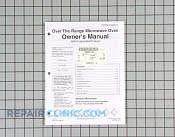Owner's Manual - Part # 1024826 Mfg Part # 53001211