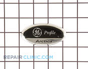 Nameplate ref black - Part # 913156 Mfg Part # WR04X10103