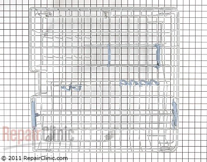 Upper Dishrack Assembly (OEM)  W10243301