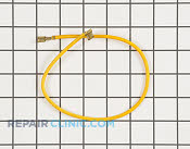 "Wire, yellow (15"") - Part # 1242569 Mfg Part # Y04100424"