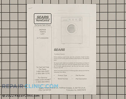 Kenmore Kenmore Washing Machine Repair Manual