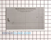 Sheet-top cabinet template - Part # 909389 Mfg Part # 8183896