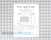 Manual, use & care - Part # 602480 Mfg Part # 51001200