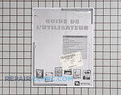 Manual, use & care (french & spanish) - Part # 785555 Mfg Part # 33002531