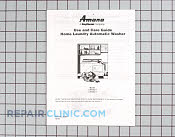 Owners manual (lw430 - Part # 1246292 Mfg Part # Y36369
