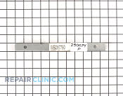 Bracket trim - Part # 250074 Mfg Part # WB2X7750