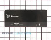 Nameplate & label assy black - Part # 295324 Mfg Part # WR17X4214
