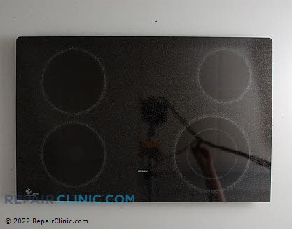GE Cooktop and Glass Assembly