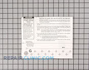 Wall template - Part # 627029 Mfg Part # 5303284154