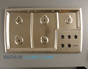 Metal Cooktop - Part # 1021852 Mfg Part # 143105