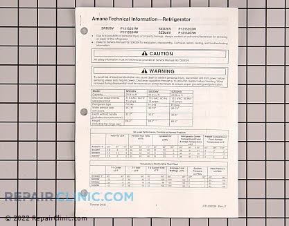 Tech Sheet (OEM)  RT1300039, 768575