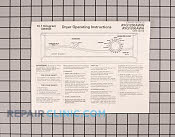 Manual, use & care - Part # 487887 Mfg Part # 31001454