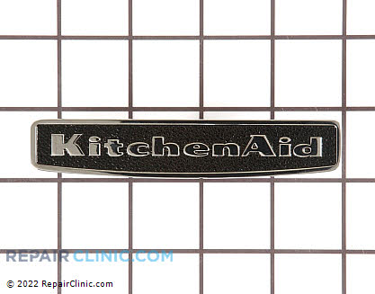Nameplate (black) 9757730BL       Main Product View