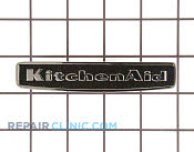 Nameplate (black) - Part # 1061255 Mfg Part # 9757730BL