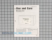 Manual, use &amp; care - Part # 352390 Mfg Part # 06010311