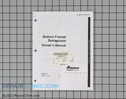 Owners manual (bm refrig) 10937004 Main Product View