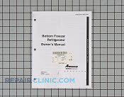 Owners manual (bm refrig) - Part # 386886 Mfg Part # 10937004