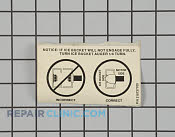 Label-ice container (not illustrated) - Part # 451894 Mfg Part # 218737700