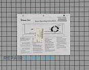 Manual, use &amp; care - Part # 487847 Mfg Part # 31001406