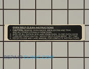 Nameplate,self-clean - Part # 756308 Mfg Part # 82873