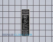 Label,anti-tip - Part # 959003 Mfg Part # 316221001