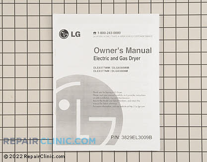 Owner's Manual 3829EL3009B Main Product View