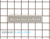 Badge, kitchen aid (stainless steel) - Part # 1394032 Mfg Part # 2317923S