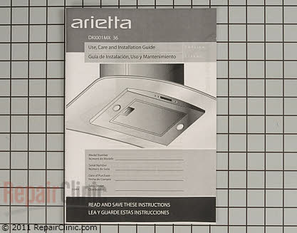 Arietta Range Vent Hood Hardware Kit