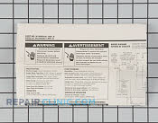 Tech Sheet - Part # 1446919 Mfg Part # W10082651