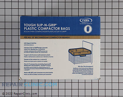 Trash Compactor Bags (OEM)  W10165294RB - $52.05