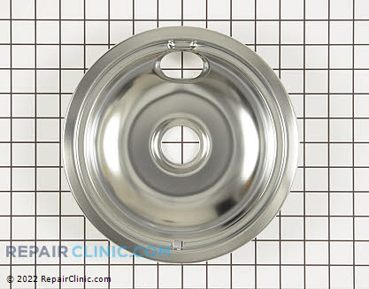 8 Inch Burner Drip Bowl (OEM)  W10196405