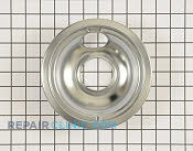 6 Inch Burner Drip Bowl - Part # 1534547 Mfg Part # W10196406RW