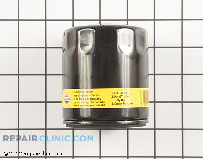 Oil Filter, Briggs & Stratton Genuine OEM  491056