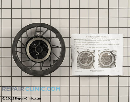 Rewind Pulley and Spring, Briggs & Stratton Genuine OEM  498144