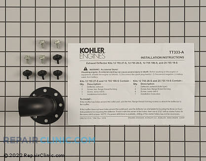 Exhaust Deflector, Kohler Engines Genuine OEM  12 755 28-S