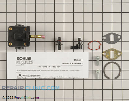 Fuel Pump, Kohler Engines Genuine OEM  12 559 02-S