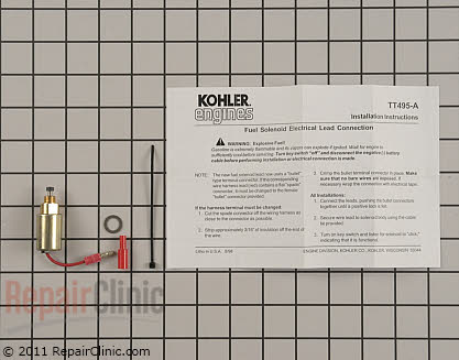 Fuel Shut-Off Solenoid, Kohler Engines Genuine OEM  12 757 33-S