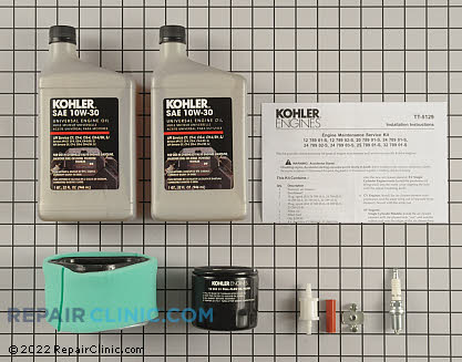 Tune Up Kit, Kohler Engines Genuine OEM  12 789 01-S