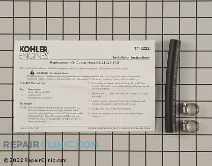 Hose, Kohler Engines Genuine OEM  24 326 17-S - $6.90