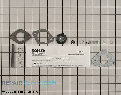 Accelerator Pump, Kohler Engines Genuine OEM  24 757 56-S