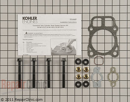 Cylinder Head Gasket, Kohler Engines Genuine OEM  24 841 01-S - $24.35