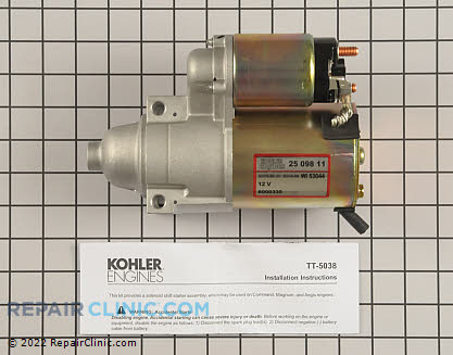 Electric Starter, Kohler Engines Genuine OEM  25 098 11-S