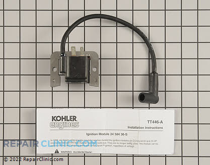 Ignition Coil, Kohler Engines Genuine OEM  24 584 36-S