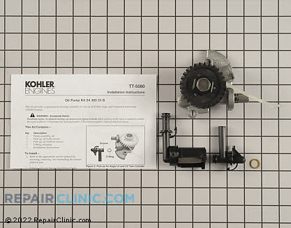 Oil Pump, Kohler Engines Genuine OEM  24 393 53-S, 2023305