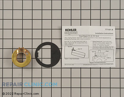 Float, Kohler Engines Genuine OEM  25 757 03-S - $15.05
